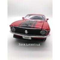 Welly Diecast - 1970 Ford Mustang Boss 302 Skala 1:24 (Merah)