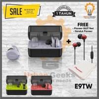 Pioneer E9 True Wireless Earphone TWS IPX7 Quick Recharge Auto Pairing - Kuning Hijau
