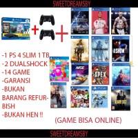 PS4 Slim 1TB garansi panjang (free 6 game)Sony playstation 4 slim