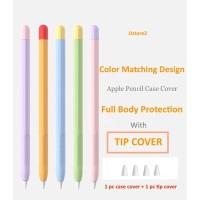 Apple pencil 1 &2 full case cover silicone - Apple pencil 1, Hijau