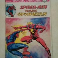 Komik Superhero Lawas Spiderman vs Captain Britain