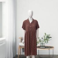 DS01 - Brown Dots Shirt Dress - L