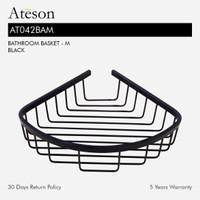 ATESON AT042BAM Rak Kawat Sudut Aksesoris Kamar Mandi Hitam Bathroom