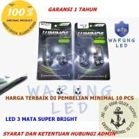 Lampu LED Speedometer Motor Mobil T5 3 Titik Luminos 9nine asli (SET)