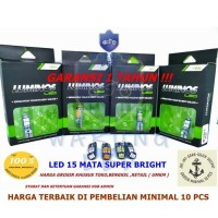 Lampu LED T10 9nine Luminos senja sein plat mundur 15 Titik ( satu )
