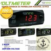 9Nine Luminos Voltmeter Digital Slim Mini Volt Meter Waterproof motor