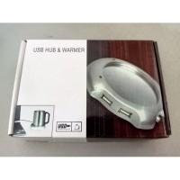 NEW !!! - USB 2.0 Coffee Cup Warmer Pad Penghangat Minum 4 port Hub