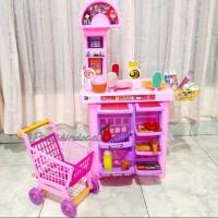 Mainan Play Super Market - Mainan Play Market Trolly Belanja