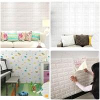 Wallpaper Dinding 3D Foam bata/kotak/animal 77cmX70cmX5mm kamar anak - Bata 3mm