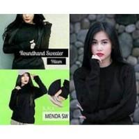 [Rajut Roundhand Sweater BC]Sweater wanita rajut black