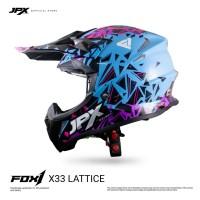 JPX FOX1 FULL FACE X33 LATTICE LIGHT BLUE GLOSS