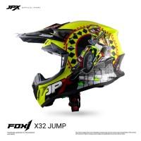 JPX FOX1 FULL FACE X32 JUMP FLUORESCENT YELLOW GLOSS