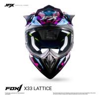 JPX FOX1 FULL FACE X33 LATTICE - LIGHT BLUE DOFF