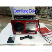 Radio Asatron R-1106 USB + lampu emergency