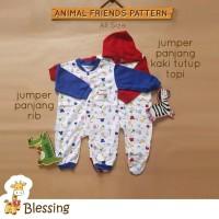 Blessing Baby-Jumper Panjang Kaki Tutup Topi-SZ:0-6 bulan-A-combi