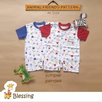 Blessing babywear-jumper pendek bayi-Uk:0-6 bulan-combo