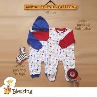 Blessing Babywears-Jumper panjang rib topi-SZ:0-6bulan-Acombi
