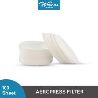 WORCAS AeroPress Paper Filter Isi 100 Lembar - Kertas Saring AeroPress