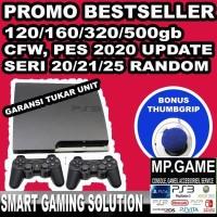 Playstation 3 PS3 Slim CFW Seri 20xx 500GB 2 Stik Bonus Analog Grip