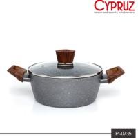 Panci Induksi Marble Cyprus 20cm + Tutup Kaca Cypruz PI-0735