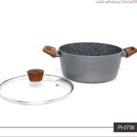 Panci Induksi Marble Cyprus 24cm + Tutup Kaca Cypruz PI-0736