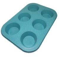 Loyang Teflon Muffin 6 Lubang | Loyang Marble Non Stick