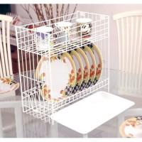Rak Piring Mini 2 Susun + Tatakan B 30 MED + T / Kitchen 2 Stack Plate