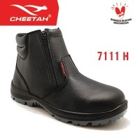 7111 H - Cheetah - Rebound - Safety Shoes - Hitam Safety - Shoes
