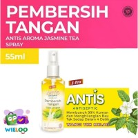Antis Spray HandSanitizer Pembersih Tangan Jasmine Tea Botol isi 55ml