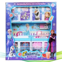 Mainan Edukasi Anak Masak Masakan Kitchen Set Frozenn LS332-13