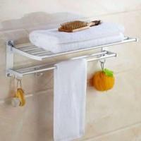 RAK GANTUNGAN HANDUK MULTIFUNGSI /rak kamar mandi /rak stainless steel