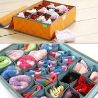 underwear box organizer/ box kain simpan underwear 24kotak