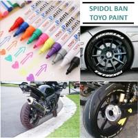 Spidol Ban Toyo ORIGINAL / Spidol Ban Mobil Motor / Paint Marker Toyo - Hijau