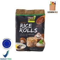 Rice Up Brown Rice Rolls / Crackers Brown Rice Cream and Mushroom 50G