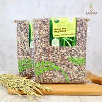 Beras Mix Organik Hitam Merah Coklat 1kg - Lingkar Organik