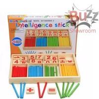 Intelligence Stick Wooden Mainan Belajar Berhitung Anak Matematika