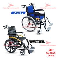 Kursi Roda Traveling Speeds Bisa dilipat- Kursi roda Alluminium 068 - 068-2 Biru