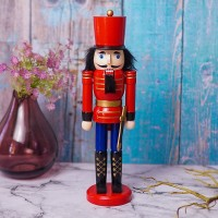 Miniatur Mainan Pajangan Prajurit London Nutcracker Bahan Kayu Premium