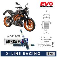 Busi Motor BRISK X-LINE MOR12-X7 KTM DUKE 200
