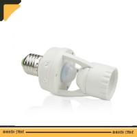 Smart Fitting Lampu Bohlam E27 Infrared Sensor Lamp Holder