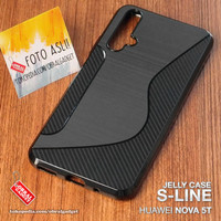 Soft Jelly Case Huawei Nova 5T Softcase Silicon Silikon Casing Cover