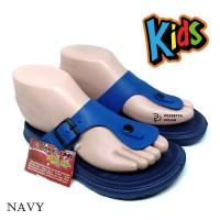 Sandal Anak Laki Tahan Air NE Tie Up - Sendal Laki Anak Navy