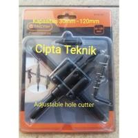 Hole saw adjustable cutter tactix 3-12cm