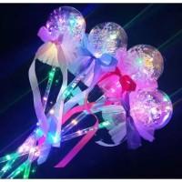 Mainan Tongkat Sihir Peri Princess Anak LED Glowing Stick Transparan W