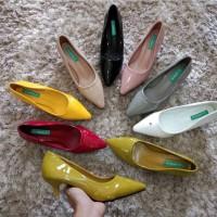 Terlaris Sepatu Wanita M.Guess Glossy11 ~ Pansus Glossy Heels 3cm