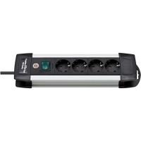 Brennenstuhl Premium-Alu-Line 4-Soket Stop Kontak -1391000014