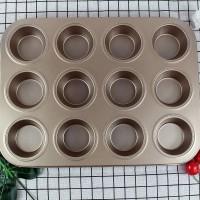 Loyang teflon cupcake muffin isi 12 anti lengket import