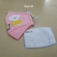 Masker PM 2.5 Anak Incld 1 Pcs Filter Kids Size - Pink Muda