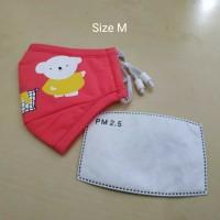 Masker PM 2.5 Anak Incld 1 Pcs Filter Kids Size - Orange