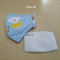 Masker PM 2.5 Anak Incld 1 Pcs Filter Kids Size - Biru Muda